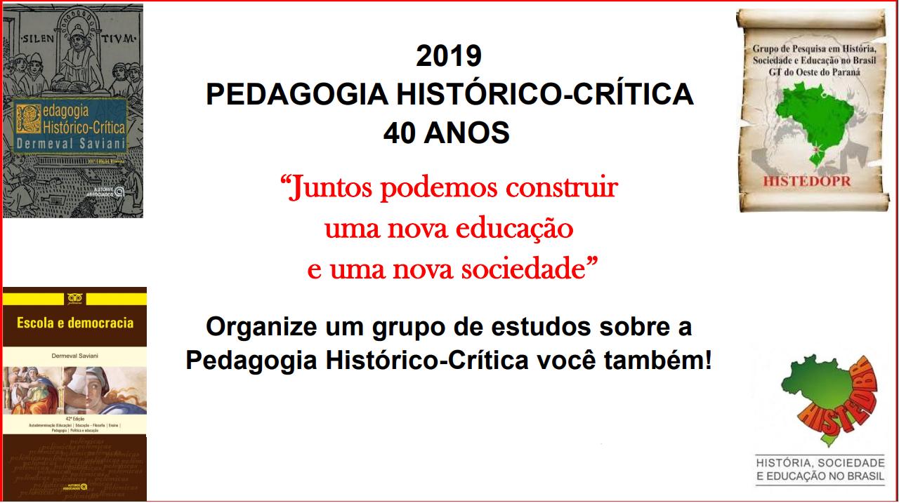 Pedagogia Histórico-Crítica 2019