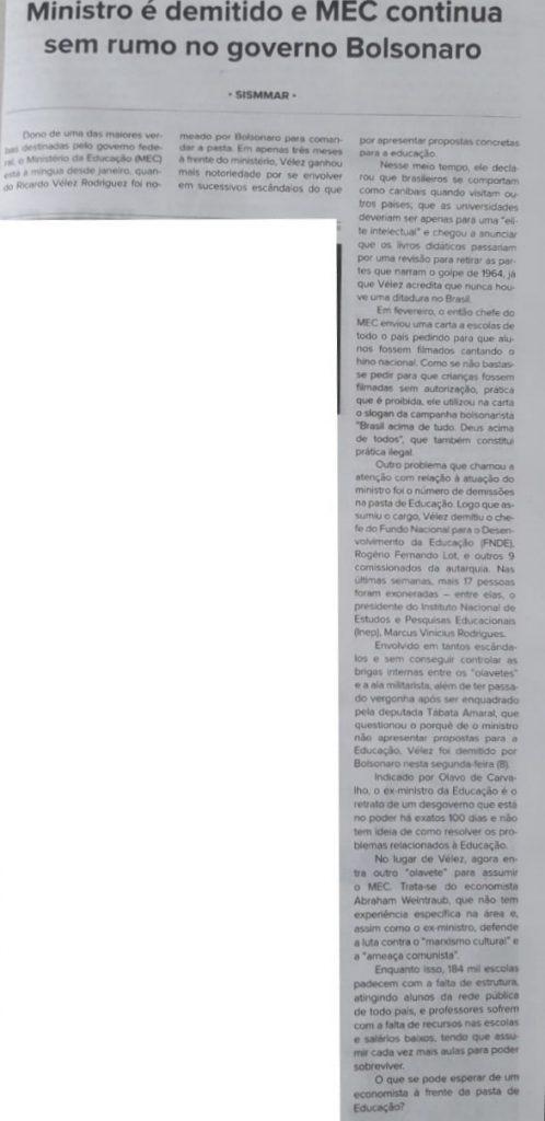 ministro governo bolsonaro