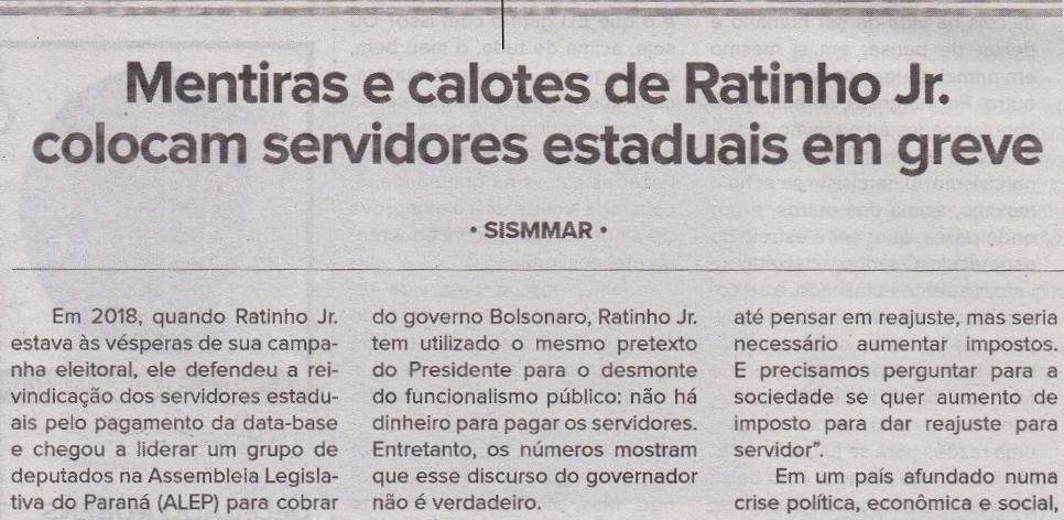 Ratinho Jr. greve