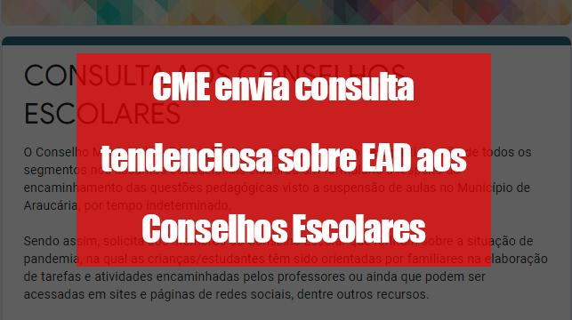 CME envia consulta